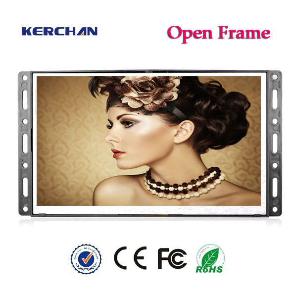 Wall Mount Open Frame Lcd Display , Lcd Advertising Screen With Battery Box